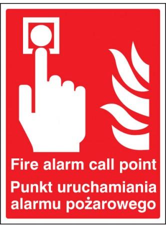 Fire Alarm Call Point (English/polish)