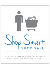 Shop Smart - Maintain a Safe and Mindful Distance