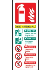 Wet Chemical Fire Extinguisher Identification
