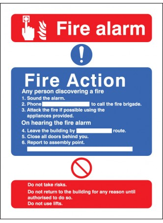 Fire Action/call Point without Lift