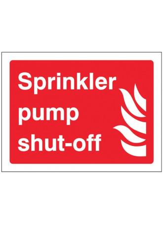 Sprinkler pump shut-off