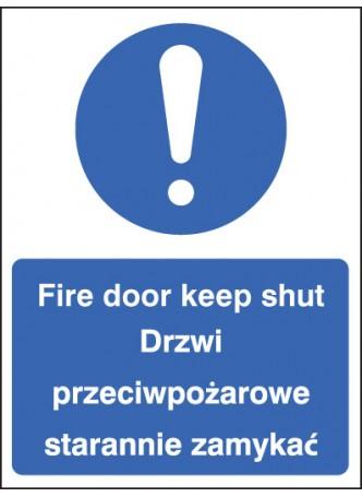 Fire Door Keep Shut (English/polish)