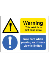 This Vehicle Is Left-hand Drive, Take Care When Passing As Drivers View Is Limited