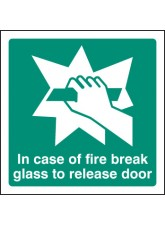 Break Glass to Release Door