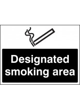 Designated Smoking Area (white/black)