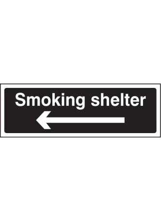 Smoking Shelter Left Arrow (white/black)