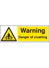Warning Danger of Crushing
