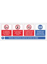 Vehicle sticker - no smoking - mobile phone - drink/drugs - wear seatbelt