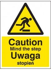 Caution Mind the Step (English/polish)