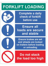 Forklift Loading Daily checks - secure loads…