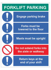 Forklift Parking Engage brakes - lower forks - return keys…