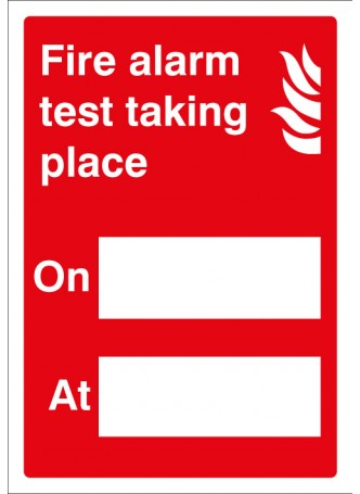Fire Alarm Test - Adapt-a-Sign