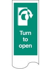 Door Plate - Turn to Open Right