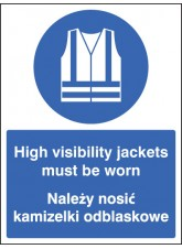 High Visibility Jackets Must Be Worn (English/polish)