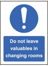 Do Not Leave Valuables in Changing Rooms