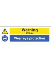 Warning UV Light Wear Eye Protection