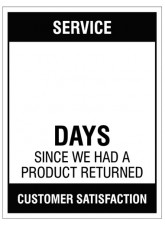 Service … Days since a product return - 300x400mm rigid PVC with wipe clean over laminate