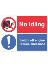 No idling, Switch off engine Reduce emissions