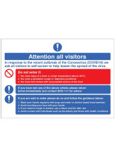 Attention all visitors Desktop Sign