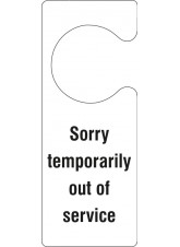 Sorry Temporarily Out of Service - Door Hanger