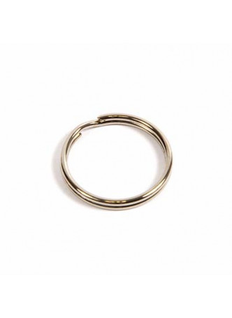 25mm Nickel Plated Steel Split Ring for engraved Key Fobs