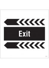 Exit, Arrow Left - Site Saver Sign - 400 x 400mm