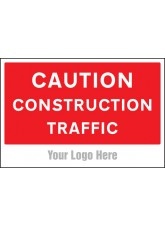 Caution Construction Traffic - Site Saver Sign - 600 x 400mm
