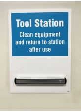 Tool Station Shadow Board with 360mm Magnetic Rail