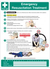 Emergency Resuscitation Treatment Wall Panel - 450 x 600mm
