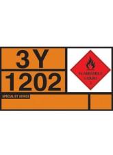 Diesel/Gas Oil Hazchem Placard - Aluminium