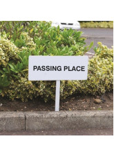 Verge sign - Passing place