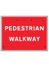 Re-Flex Sign - Pedestrian walkway