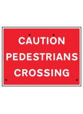 Re-Flex Sign - Caution pedestrians crossing