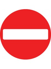 No Entry - Class R2 Permanent - 600mm Diameter