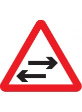Two Way Traffic Crossing Ahead - Class R2 Permanent - 600mm Triangle