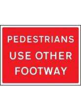 Pedestrians use Other Footway - Class RA1 - 1050 x 750mm