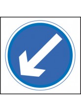 Keep Left/Right - Class RA1 - 750 x 750mm