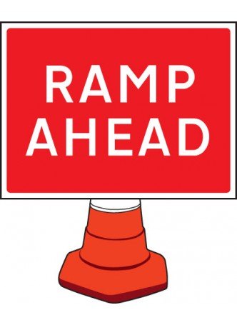 Ramp Ahead Cone Sign - 600 x 450mm