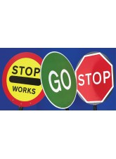 Stop/Go Lollipop Sign 600mm Dia, 1500mm Pole