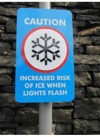 Ice Detector LED Sign