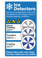 Ice Detector - Please take care when the blue reflectors are visable