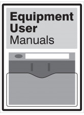 Equipment User Manuals Document Holder Sign