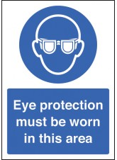 A4 Eye Protection Must be Worn