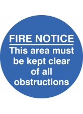 Fire Notice this Area Etc - Floor Graphic