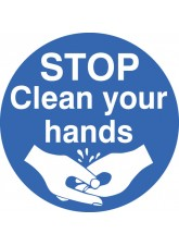 Stop Clean Your Hands - Floor Graphic