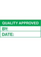 Roll of 100 Quality Approved Labels - 50 x 20mm