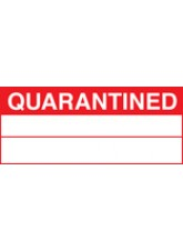 Roll of 100 Quarantined Labels - 50 x 20mm