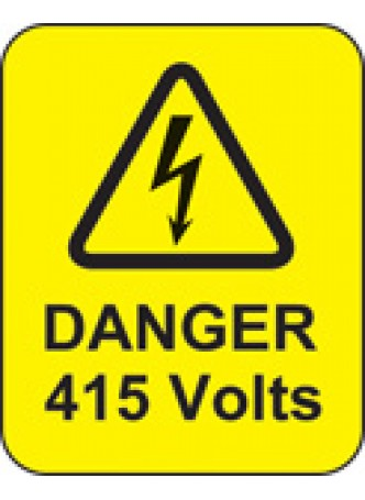 Danger 415 Volts Labels
