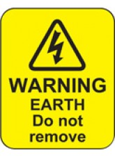Warning Earth Do Not Remove Labels