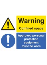 Warning Confined Space Approved PPE Must Be Worn